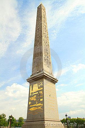 Obelisk Place De La Concorde Royalty Free Stock Image.