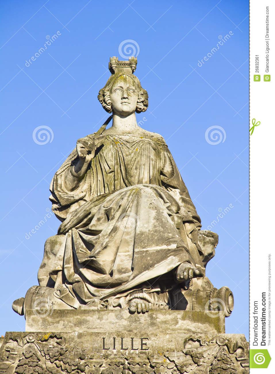 Statue Of Lille, Place De La Concorde, Paris Stock Image.
