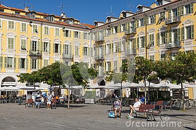 Garibaldi Statue In Garibaldi Square In Nice Stock Photo.