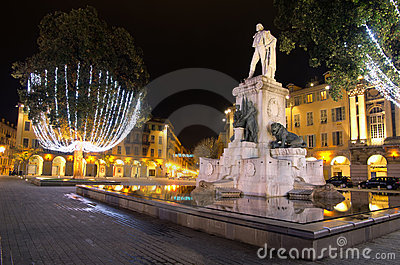 Place Garibaldi Nice France Stock Photos, Images, & Pictures.