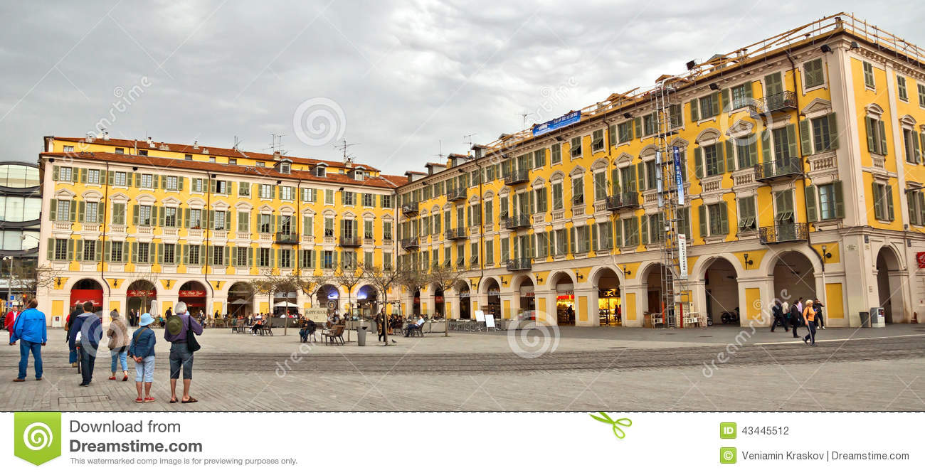 Place Garibaldi In Nice, France Editorial Image.