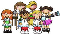 Kids doing things clipart science discovery free.