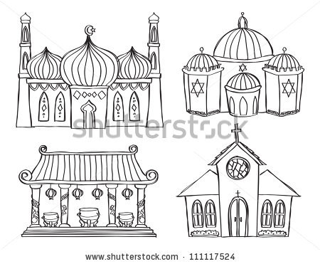 Places Worship Stock Vector 111117524.