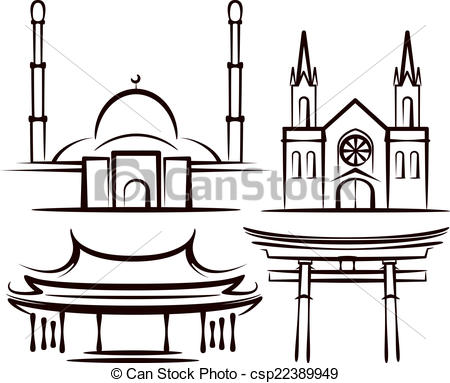 Places of Worship Clip Art.