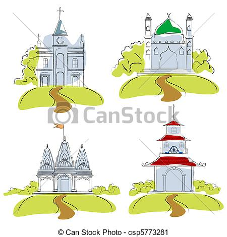 Places Of Worship Clipart.