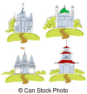 Places of worship Illustrations and Clip Art. 543 Places of.
