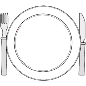 Place Setting Clipart.