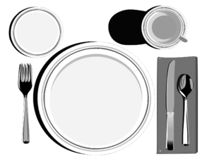 Lunch Place Setting Clipart.