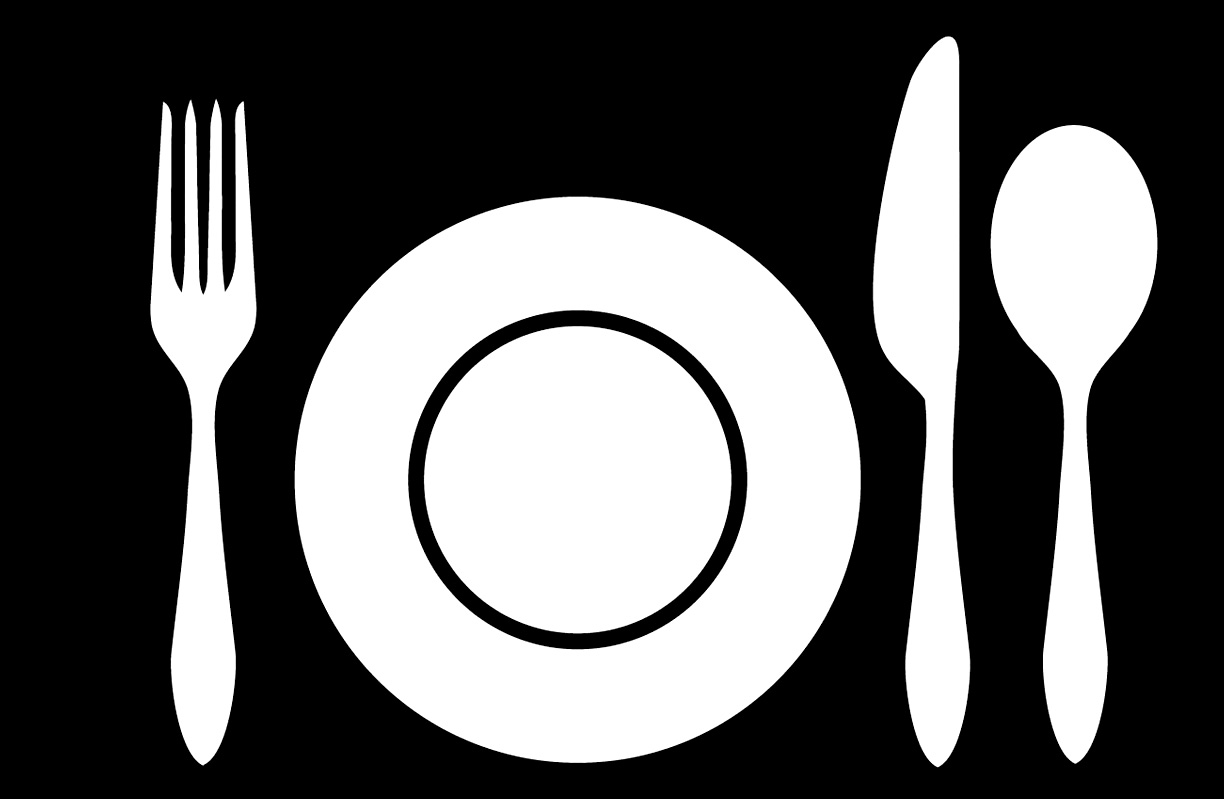 Dinner Place Setting Clipart.