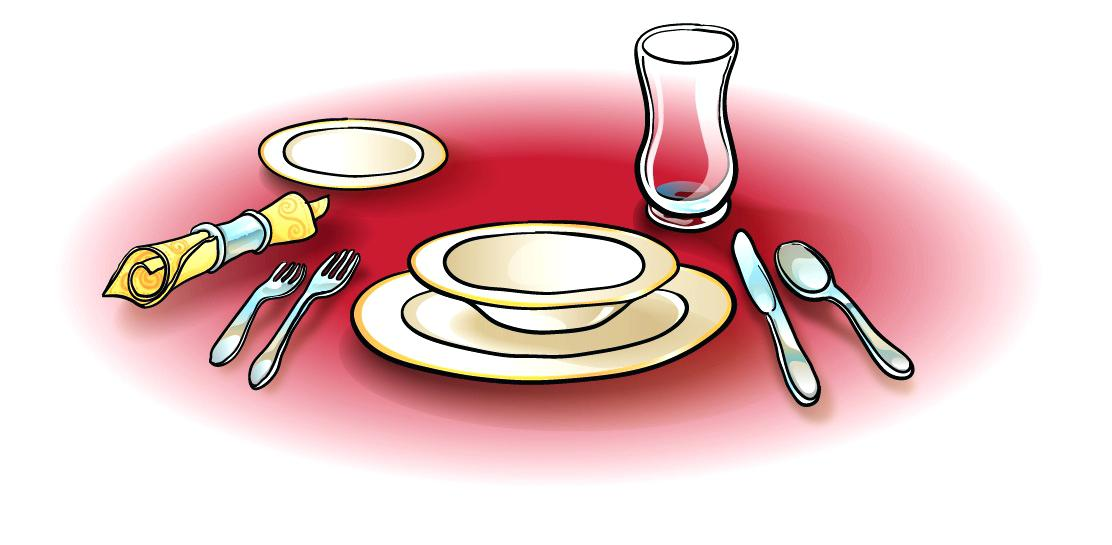Free table setting clipart 4 » Clipart Station.
