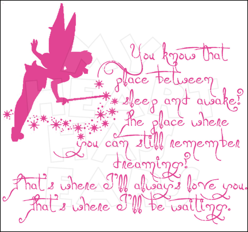 Tinker Bell That place between sleep and awake INSTANT DOWNLOAD.
