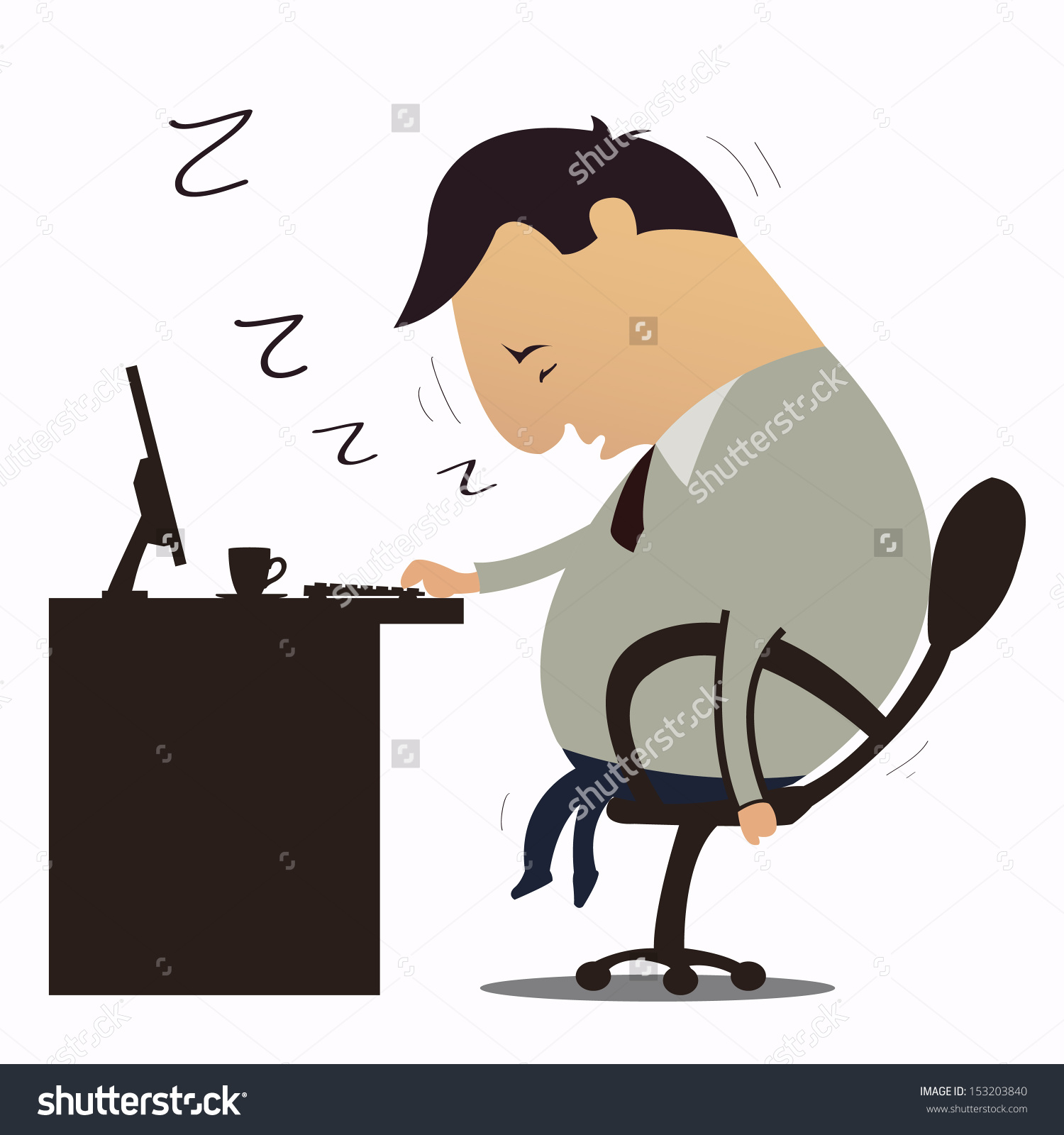 Businessman Fall Sleep Working Place Stock Vector 153203840.