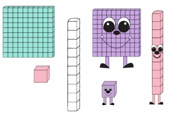 Place Value People and Blocks Clip Art Set Cute!!!.