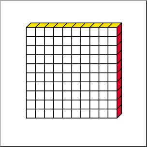 Clip Art: Place Value Blocks Color 0100 I abcteach.com.