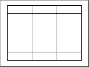 Clip Art: Place Value Chart: Hundreds 3 B&W 1 I abcteach.com.