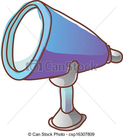 Vector Clipart of A telescope is placed csp16307809.
