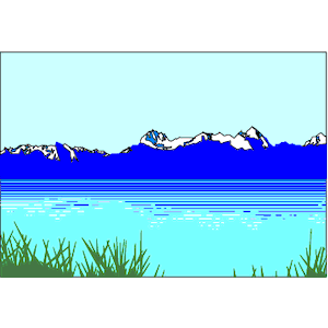 Lake With Fish Clipart.