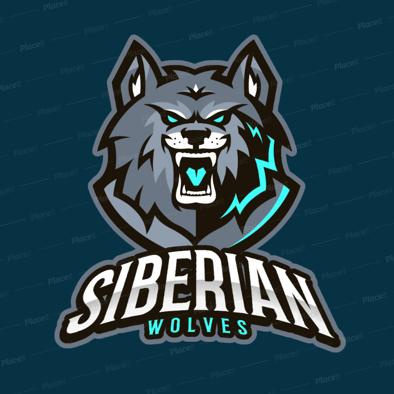 Team Logo Maker of a Ferocious Wolf 383k.