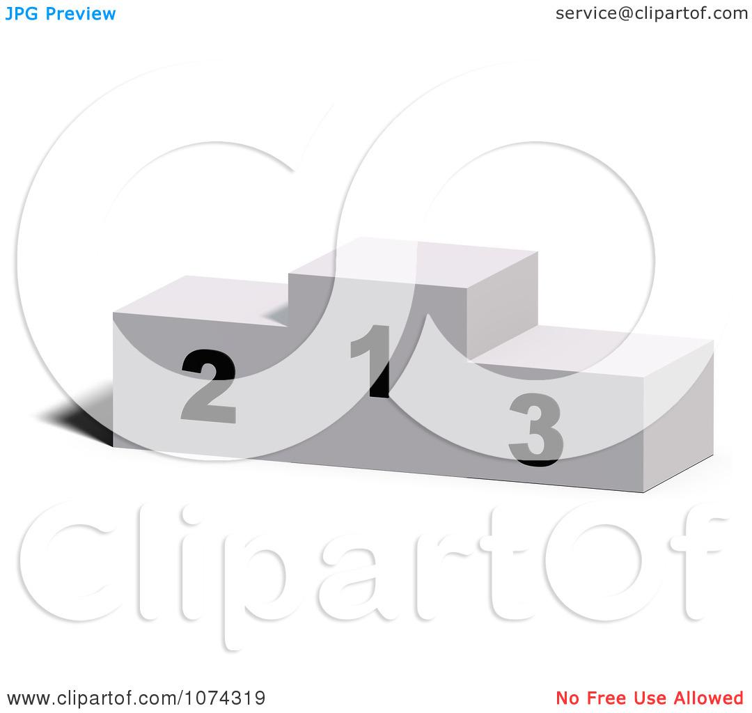 Clipart 3d Sports Placement Pedestal.