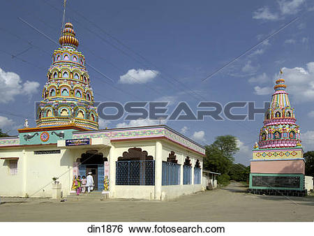 Stock Images of Sri Sant Yadav Baba Temple at Ralegan Siddhi near.