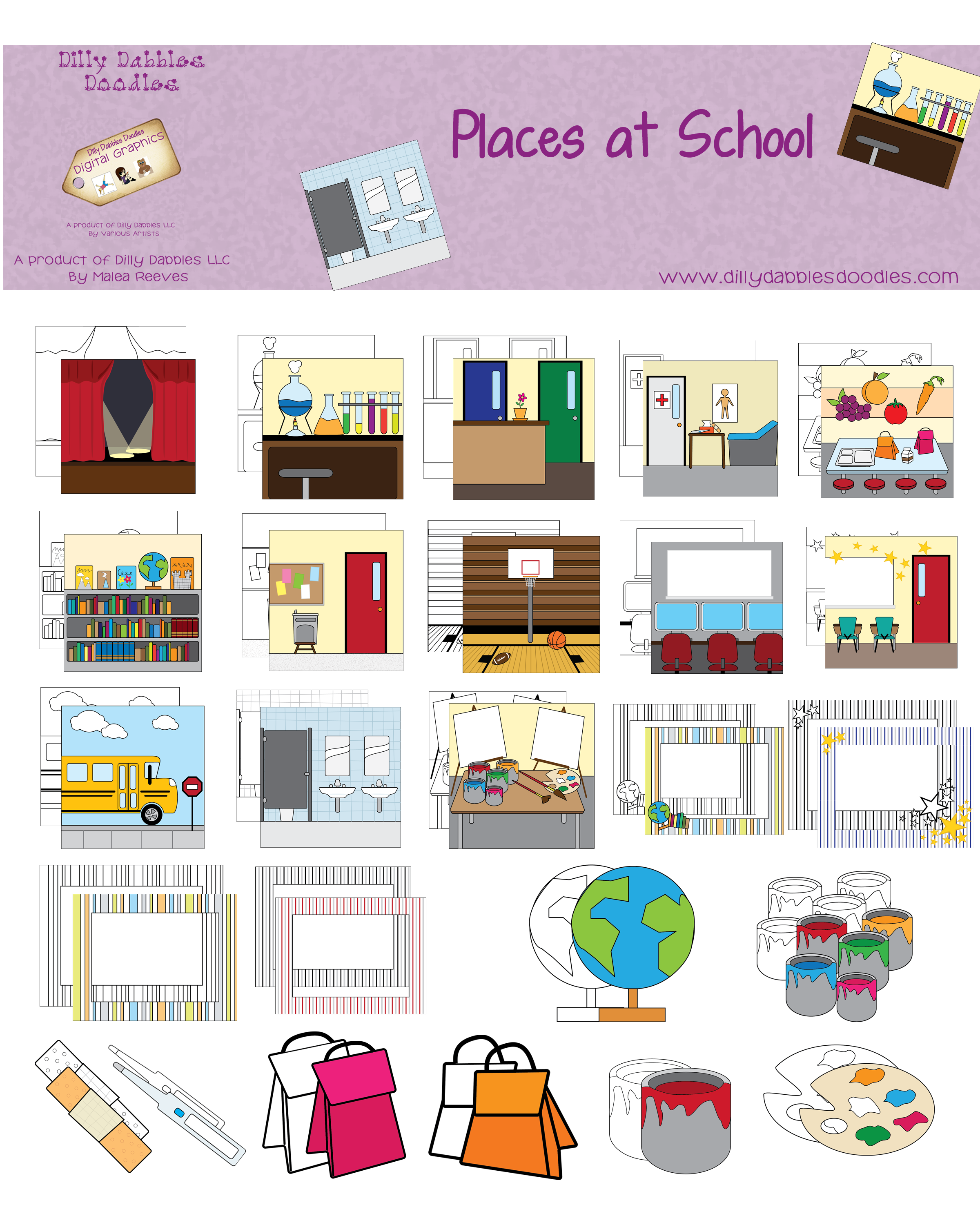 Places In School Clipart.