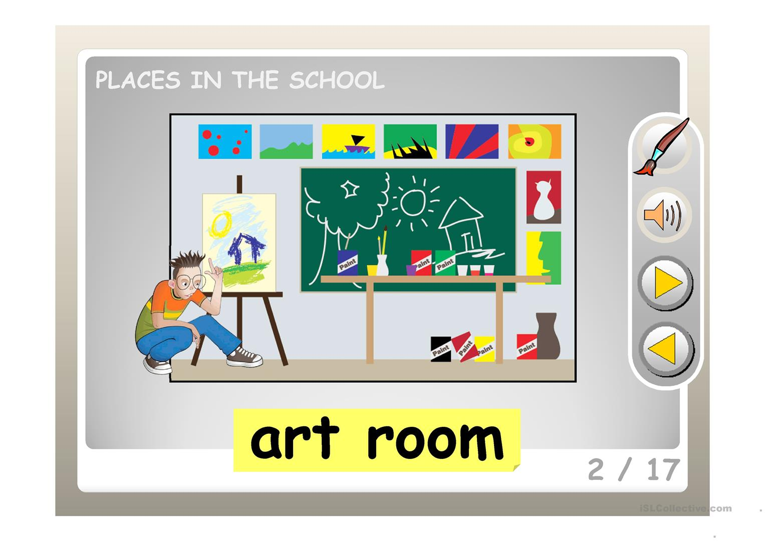 PLACES IN THE SCHOOL PPT.