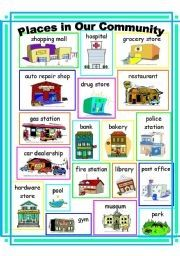 Places In Our Community Clipart.
