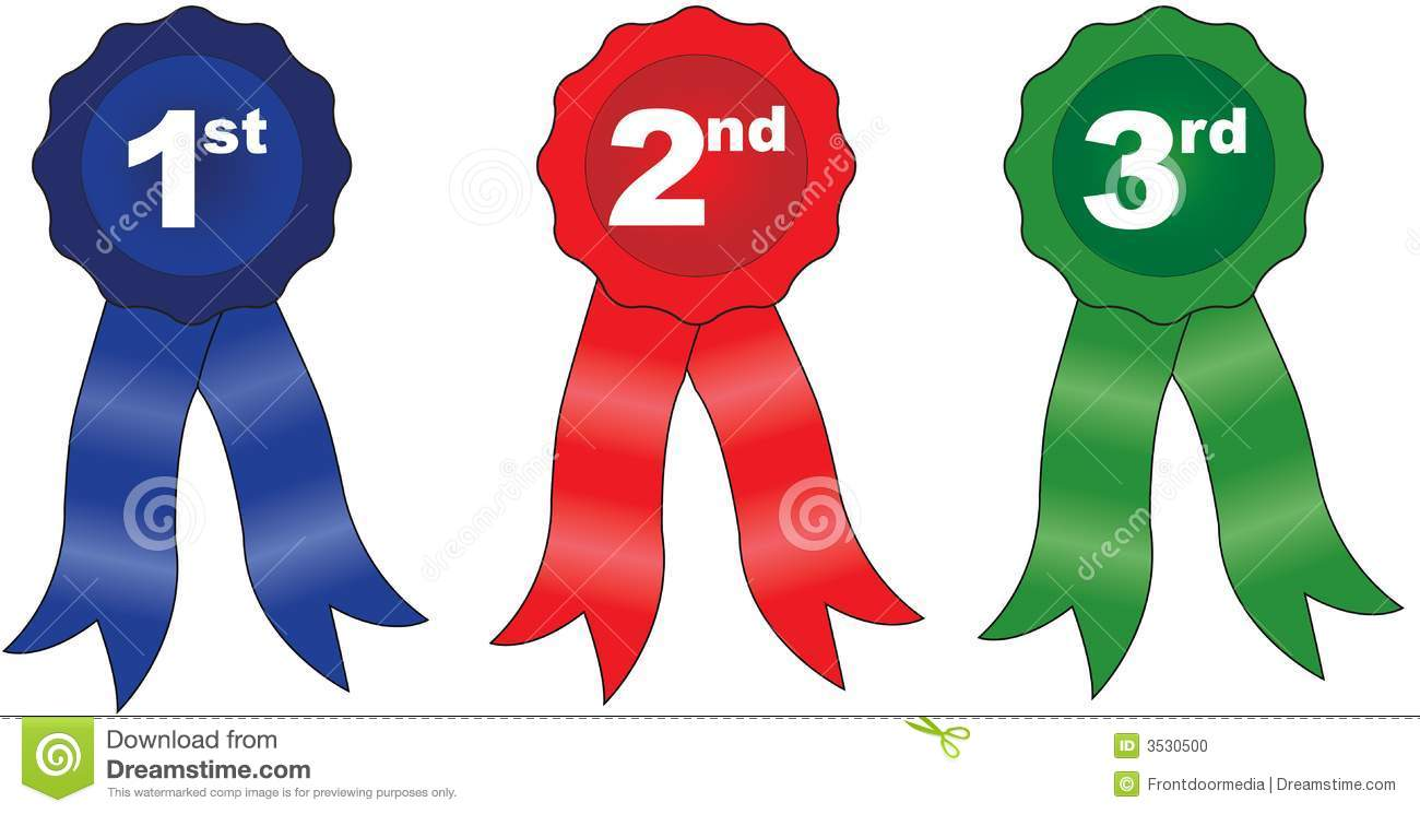 1st 2nd 3rd Place Ribbon Clipart.