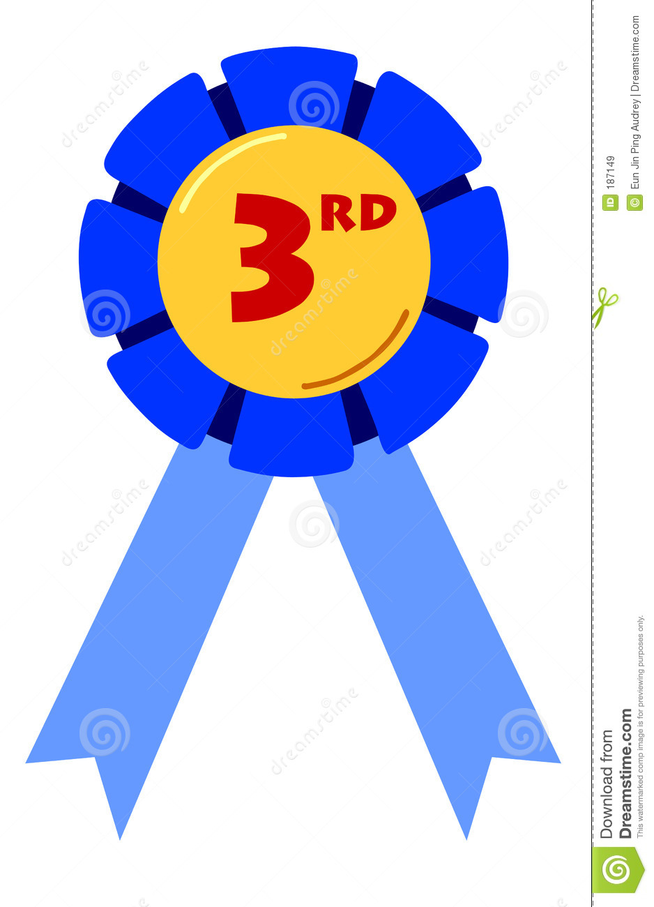 3rd Place Ribbon Clipart.