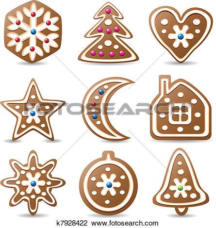 Clipart of gingerbread cookies k7928422.