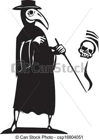 Clipart Vector of Plague Doctor.