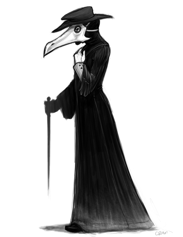 Plague doctor clipart.
