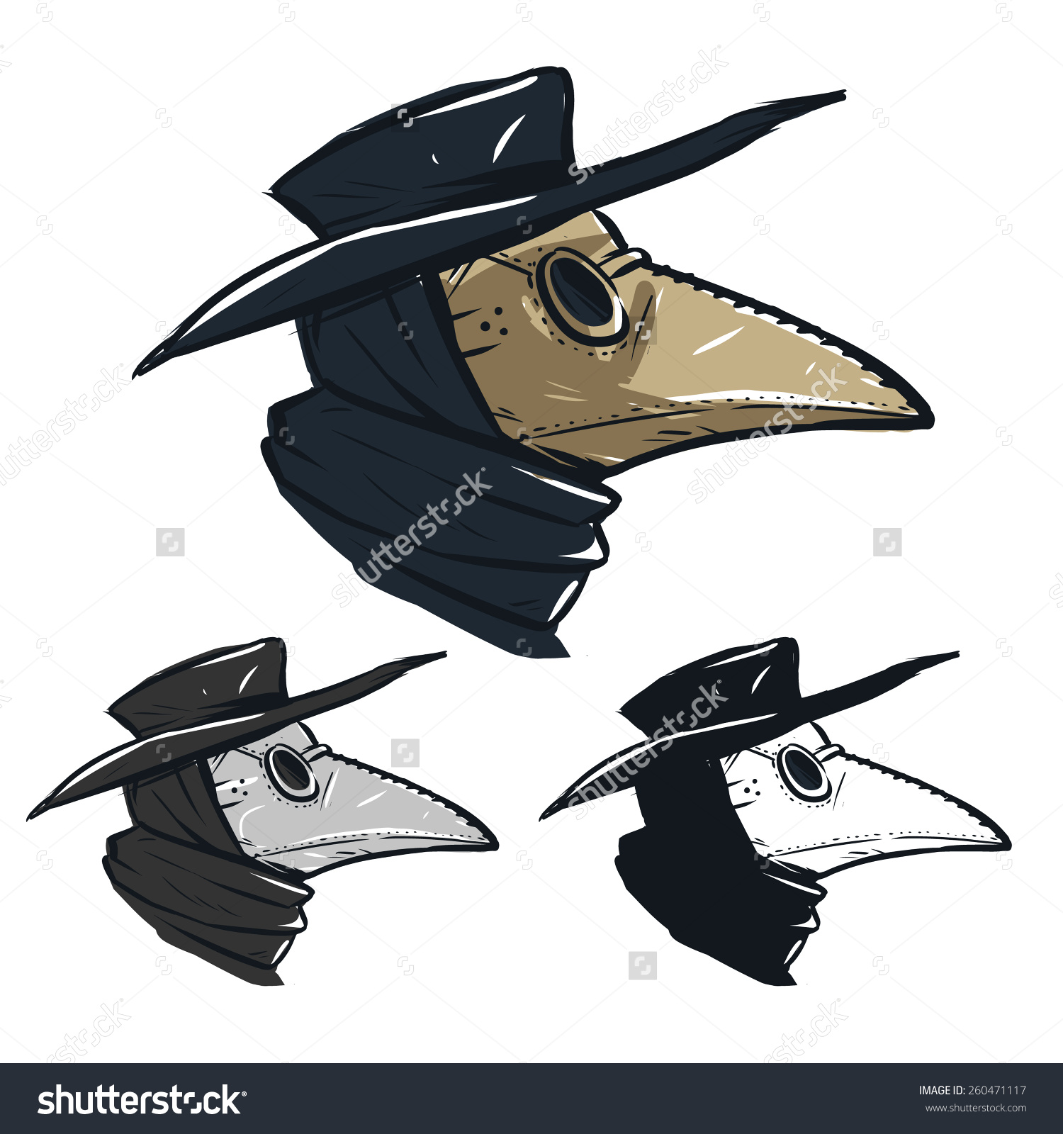 Plague Doctor Mask Stock Vector 260471117.