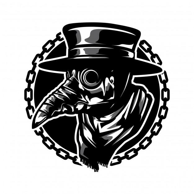 Plague doctor mask Vector.
