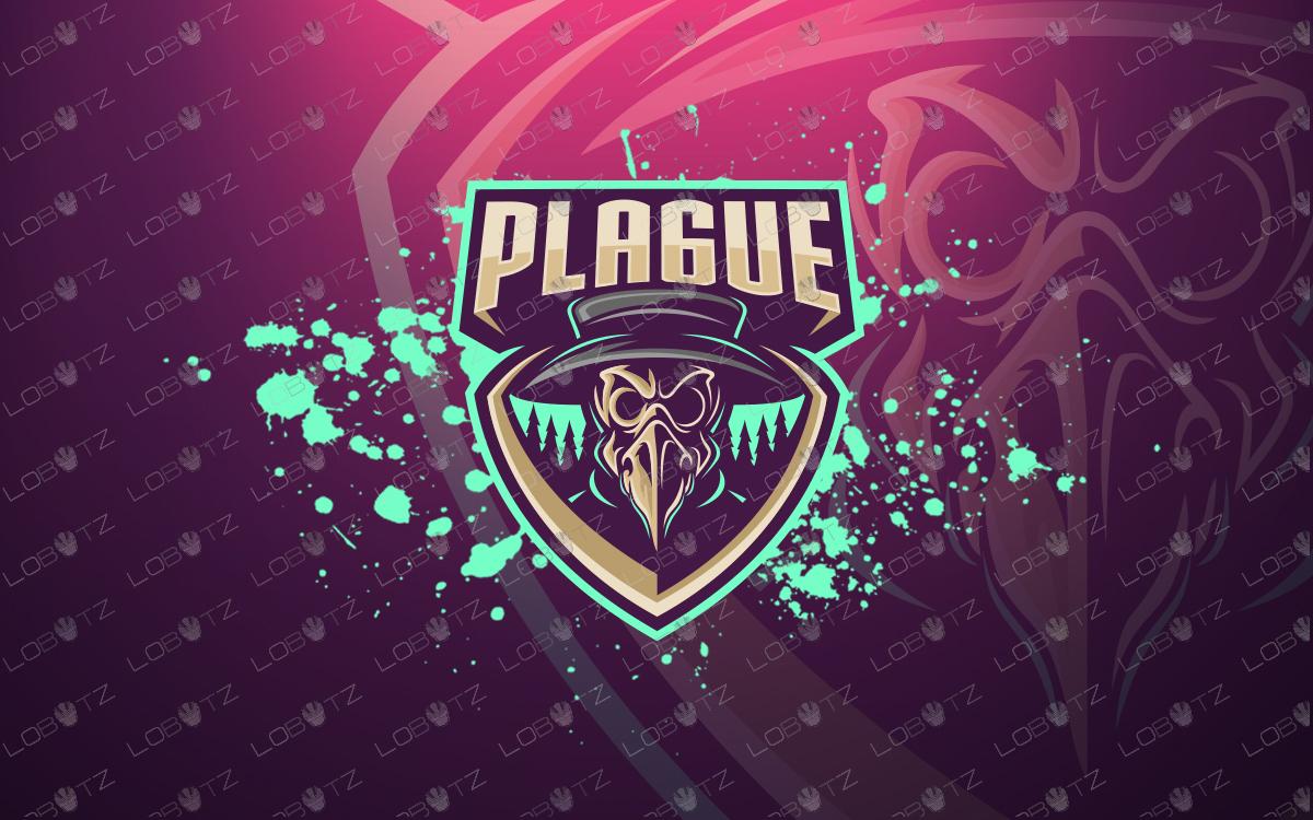 plague doctor mascot logo plague doctor esports logo.