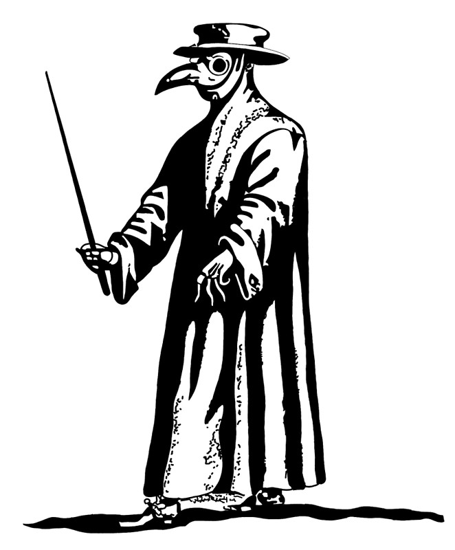 The Plague Doctor Clipart.