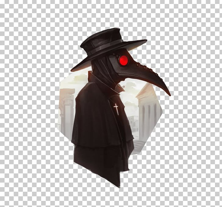 Black Death Plague Doctor Costume Bubonic Plague PNG.