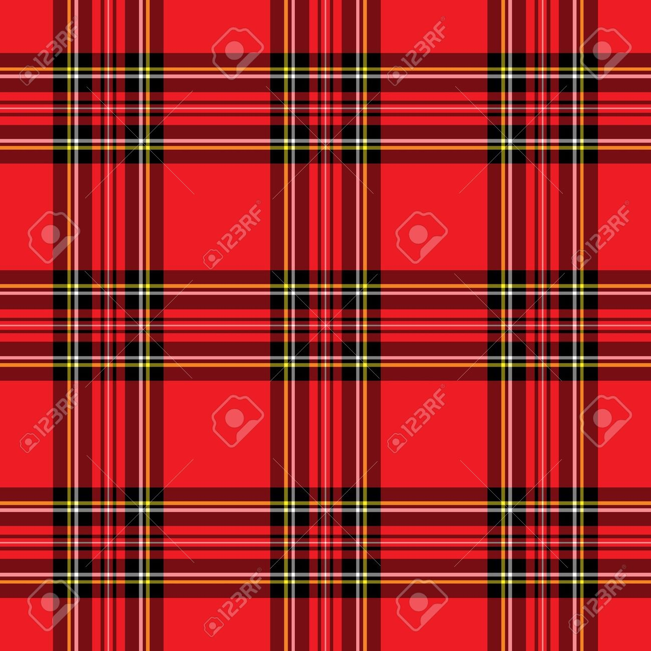 Background Illustration Of Red And Black Plaid Pattern Stock Photo.