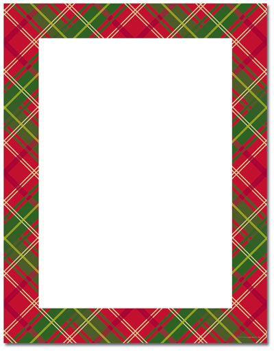 Free Holly Border Template.