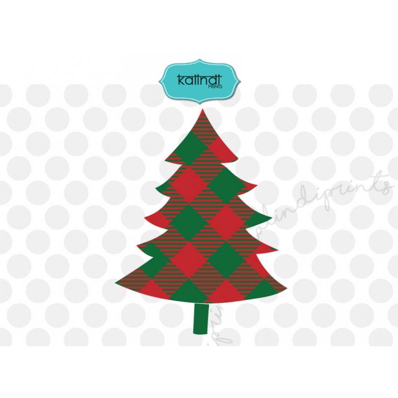 Plaid Christmas tree svg, Christmas svg.