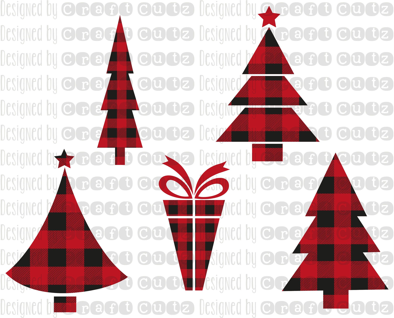 Buffalo Plaid Christmas Tree svg, Buffalo Plaid Cut file.