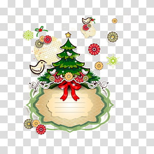 Christmas Tag transparent background PNG cliparts free.