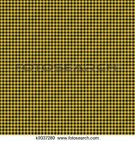Stock Illustration of Black & Yellow Checker Plaid Paper k9337289.