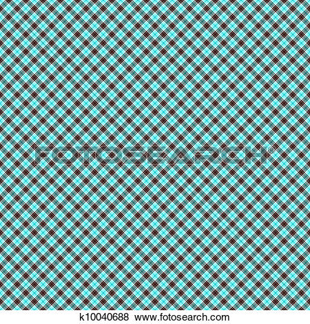 Stock Illustration of Mint Chocolate Chip Plaid Paper k10040688.