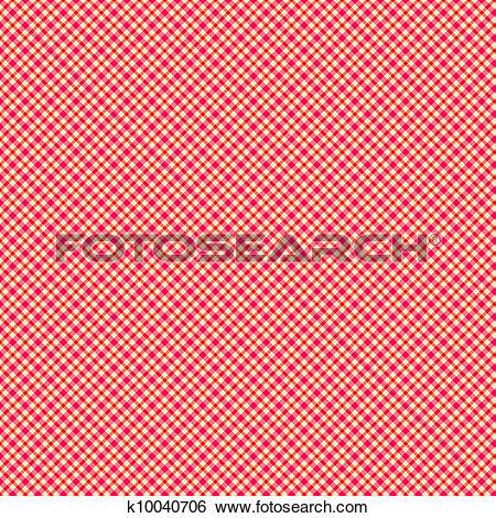 Stock Illustration of Strawberry Shortcake Plaid Paper k10040706.