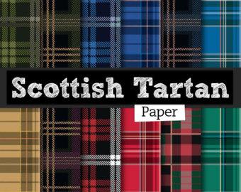 Scottish plaid clipart.