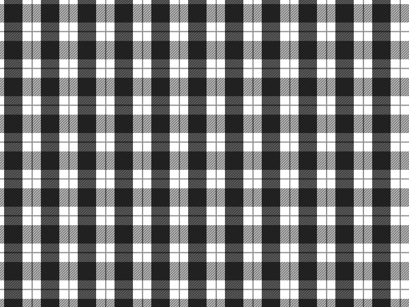 Black And White Plaid Pattern For Photoshop (Fabric.
