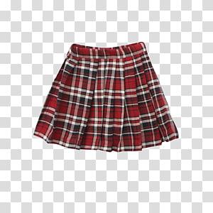 Tartan Skirt, plaid skirt transparent background PNG clipart.