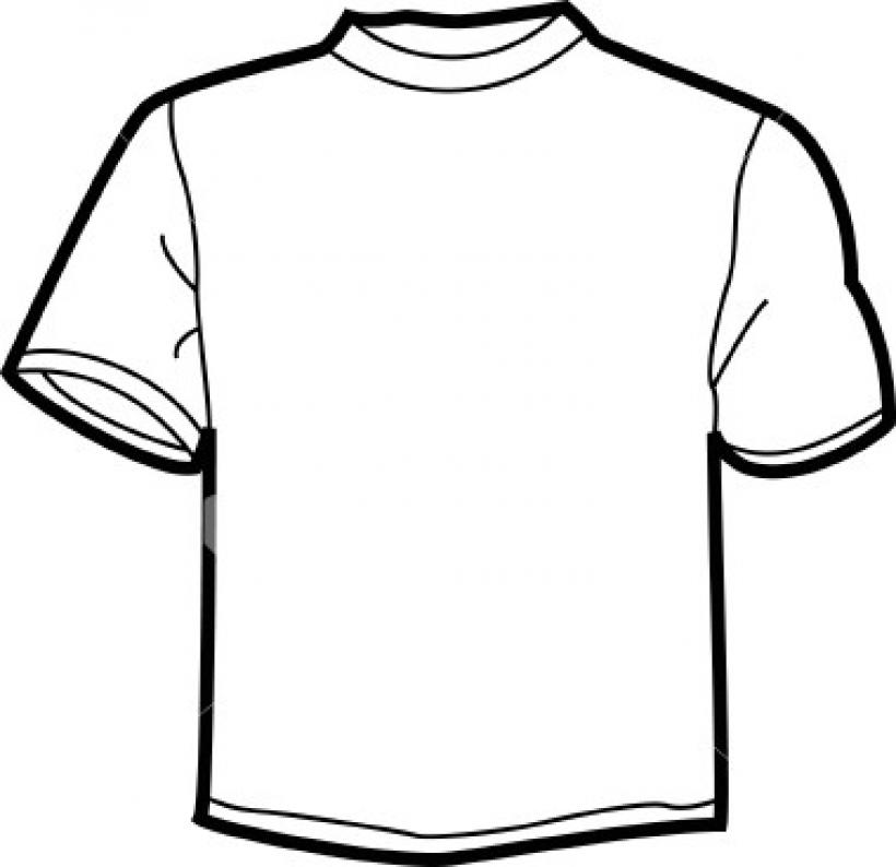 Plain shirt clip art.