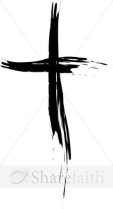 Plain Black Cross Clipart.